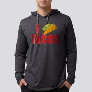 I Love Tacos Mens Hooded Shirt