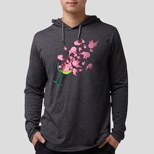pink-elephants Mens Hooded Shirt