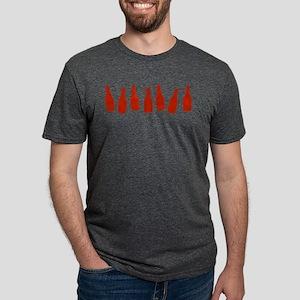 KETCHUP-ROW Mens Tri-blend T-Shirt