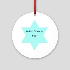 Native American Jewish Pride Ornament (Round)