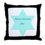 Native American Jewish Pride Throw Pillow
