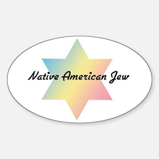The Native American Jew Oval Bumper Stickers