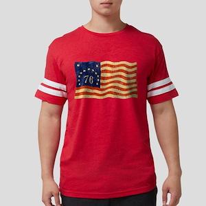 76-FLAG-WORN Mens Football Shirt