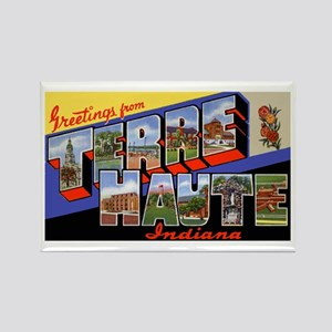 Terre Haute Indiana Greetings Rectangle Magnet