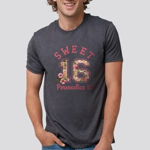 PERSONALIZED Sweet 16 Mens Tri-blend T-Shirt