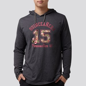 PERSONALIZED Quinceanera 15 Mens Hooded Shirt