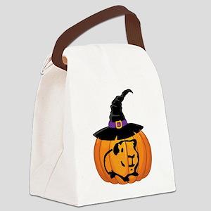 Guinea Pig Pumpkin Canvas Lunch Bag