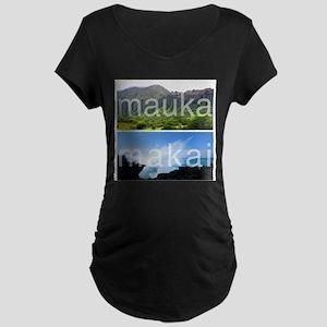 Mauka Makai Hawaii Print Maternity T-Shirt