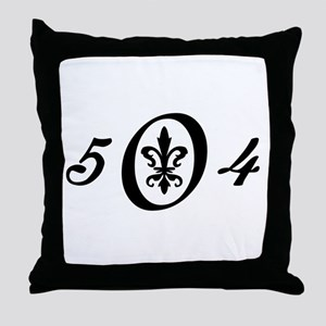 Fleur 504, black & white Throw Pillow