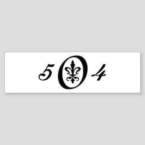 Fleur 504, black & white Bumper Sticker