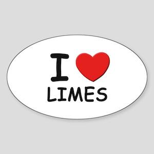 I love limes Oval Sticker