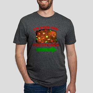 im-with-the-fruitcake Mens Tri-blend T-Shirt