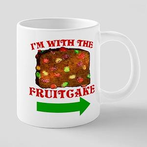 im-with-the-fruitcake 20 oz Ceramic Mega Mug