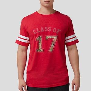 Class of 17 Floral Pink Mens Football Shirt