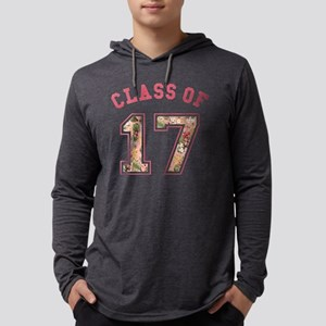 Class of 17 Floral Pink Mens Hooded Shirt