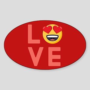 Love Emoji Sticker (Oval)