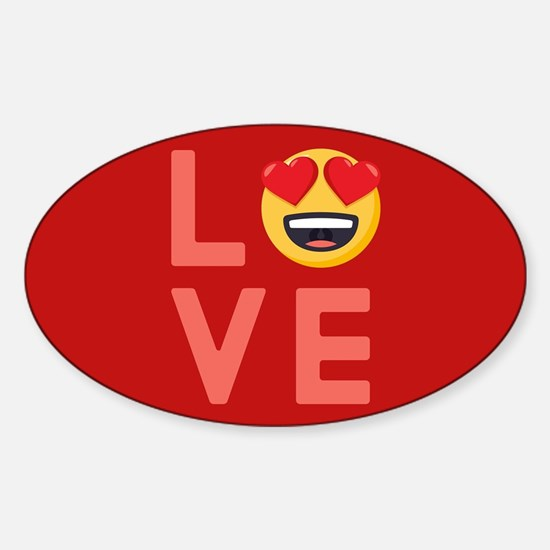 Love Emoji Sticker (Oval)