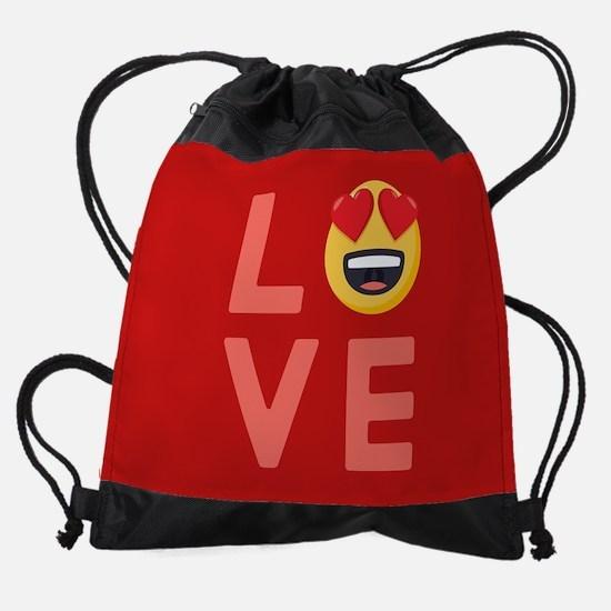 Love Emoji Drawstring Bag