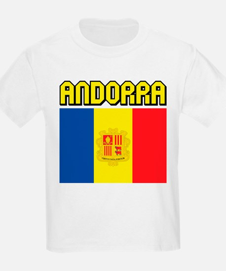 Andorra Flag Kids T-Shirt