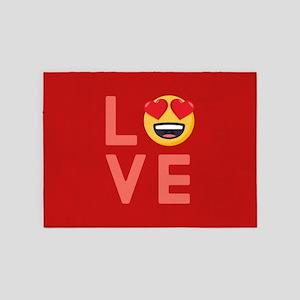 Love Emoji 5'x7'Area Rug
