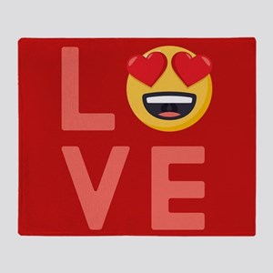 Love Emoji Throw Blanket