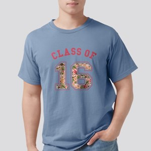 Class of 16 Floral Pink Mens Comfort Colors Shirt