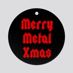 Merry Metal XMas Ornament (Round)