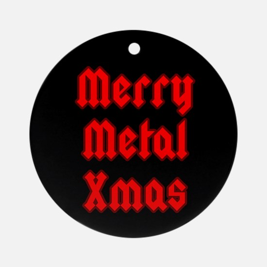 Merry Metal XMas Ornament (Round)