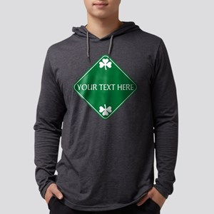 St Patricks Day Border CUSTOM TEXT Mens Hooded Shi