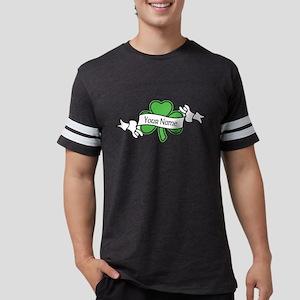 Shamrock CUSTOM TEXT Mens Football Shirt