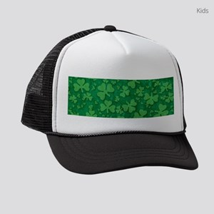 Shamrock Pattern Kids Trucker hat