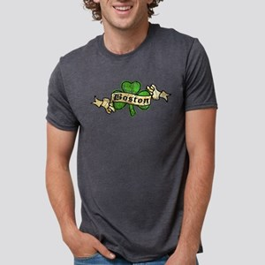 shamrock-boston-worn Mens Tri-blend T-Shirt