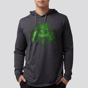 shamrock-worn Mens Hooded Shirt