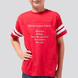10x10trans_annoy_liberals Youth Football Shirt
