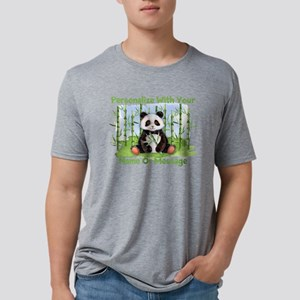 PERSONALIZED Panda With Bamboo Mens Tri-blend T-Sh
