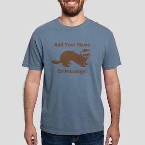 PERSONALIZED Ferret Graphic Mens Comfort Colors Sh