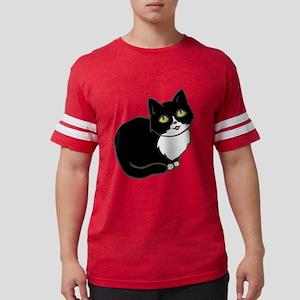 Tuxedo Cat Tuxie Mens Football Shirt