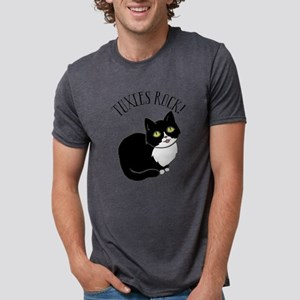 Tuxies Rock Mens Tri-blend T-Shirt
