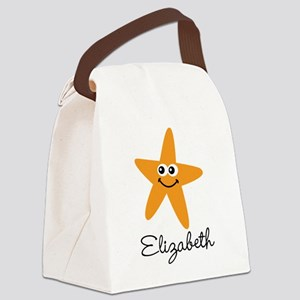 Personalized Starfish Canvas Lunch Bag