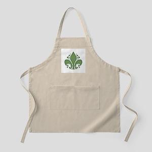 Fleur II -green BBQ Apron