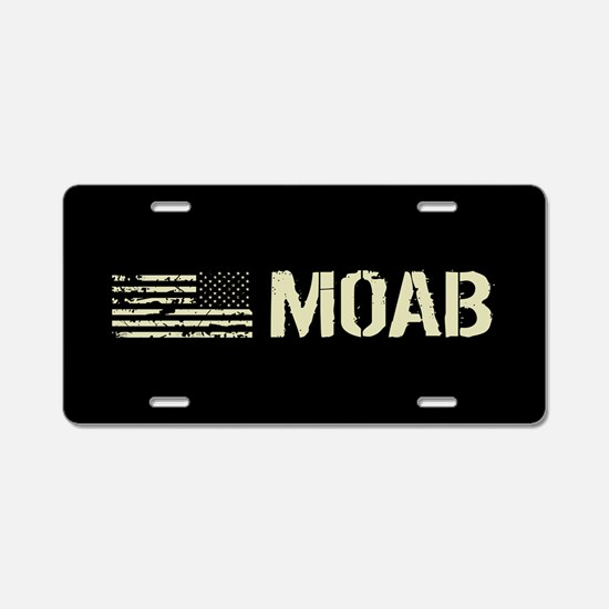 Black Flag: Moab Aluminum License Plate