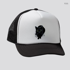 black-kitty Kids Trucker hat