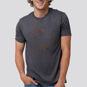 Cute Alpaca Mens Tri-blend T-Shirt