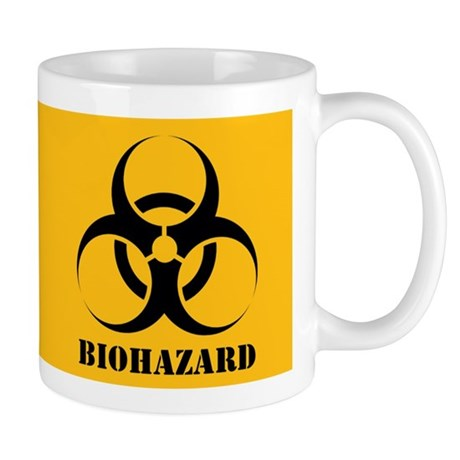 Biohazard Yellow Background Mug