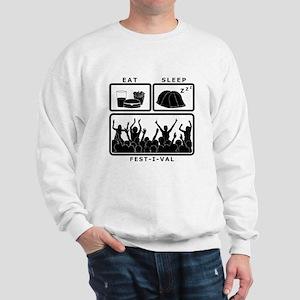 Eat Sleep Festival (black) Sweatshirt