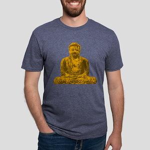 tr_buddha-gold Mens Tri-blend T-Shirt