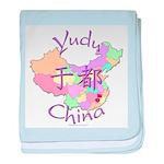 Yudu China Map baby blanket
