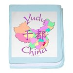 Yudu China Map baby blanket