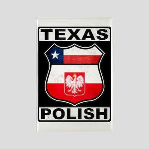 Texas Polish American Rectangle Magnet