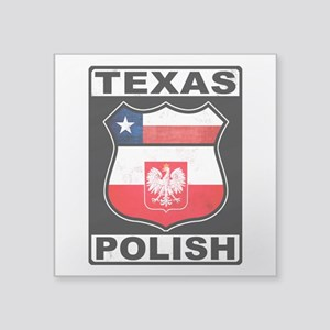 Texas Polish American Sticker